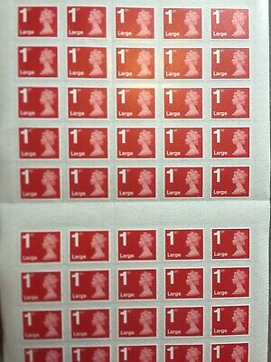 Royal Mail First Class Large Letter size 1st Class 50 Stamps. .