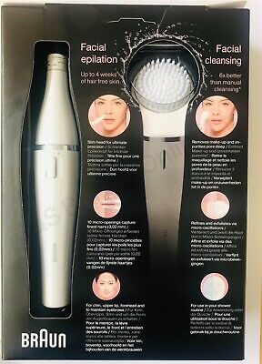Braun FaceSpa 831 Beauty Edition Cleaning Brush + Mini Epilator - Lighted Mirror