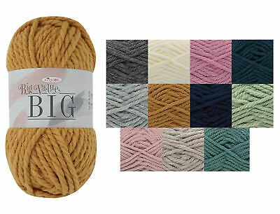 Big Value BIG Yarn King Cole 250g Ball Mega Chunky Wool Soft Acrylic Knitting