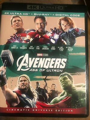 Avengers Age Of Ultron 4K Uhd + Blu-Ray Marvel Captain End Game Free Shipping