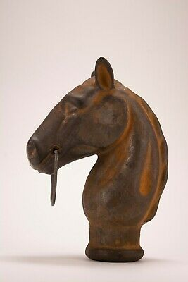 Antique Cast Iron Horse Head Hitching Post Finial