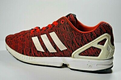 brand new 3c443 eab75 ADIDAS ZX FLUX Torsion Red Black White Athletic Shoes Men Size 9.5