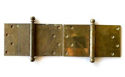 """Antique 4"""" X 7"""" Cannon Ball Door Hinges Set of 2 DH137"""