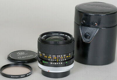 VG] CANON FD 24mm F2 8 S S C ssc Wide Angle Lens From Japan #338