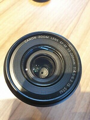 Canon Ef-m 55-200mm F4.5-6.3 Is STM Telephoto Lens for EOS M M2 M3