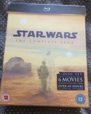 Star Wars The Complete Saga Blu Ray Brand New And Sealed