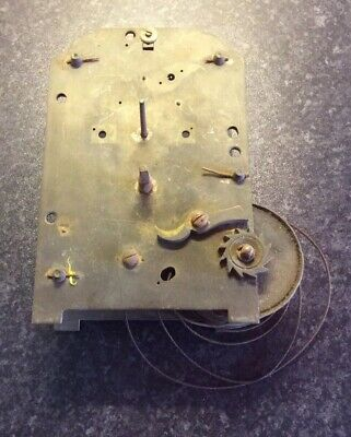 Antique Fusee Clock Movement For Repair Or Spare Parts