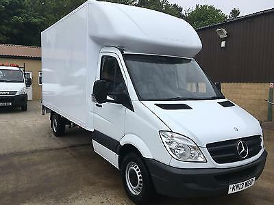 2013 mercedes-benz sprinter 313 cdi lwb luton van with alloy slim jim tail lift