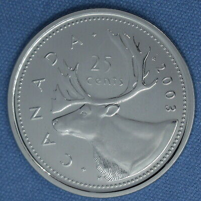 Canada 2003 WP Quarter from set- Very High Grade - Proof-like/Non Circulating 1