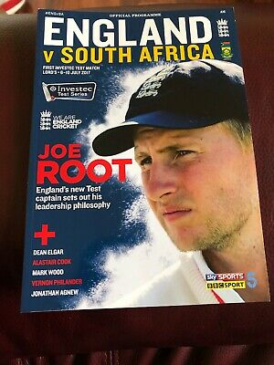 Official Cricket Programme 2017 England V South Africa 1st Test Lords July