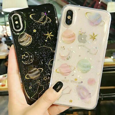 Girls Cute Bling Glitter Fashion Case Cover For iPhone XS Max XR 7 8 Plus
