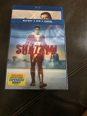 Shazam!, 2019 (Blu-Ray & DVD new only opened for digital code
