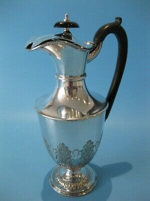 Beautiful Antique Silver Plated Georgian Repousse Claret Jug / Wine Pitcher