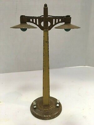 """Rare Vintage American Flyer Trains Double Street Lamp 9 1/2"""" Free Shipping!"""