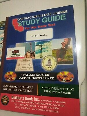 CALIFORNIA CONTRACTORS LICENSE Exam Prep Books With Cds And