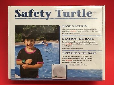 SAFETY TURTLE POOL ALARM SYSTEM BASE STATION CHILD PET NEW IN THE BOX Free Ship