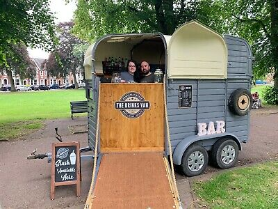 The Drinks Van   Vintage Mobile Bar **FREE TO HIRE**   Horsebox Rice Conversion