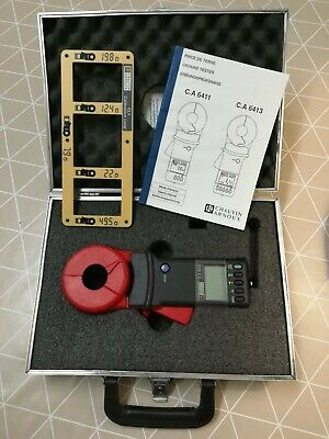 Chauvin Arnoux Ca6413 Clamp-On Ground Resistance Tester With Calibration Loop
