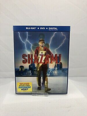 Bluray Shazam! 2019 (Bluray/DVD) With Lithograph Slipcover NO DIGITAL