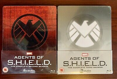 Marvel Agents of SHIELD Complete Season 2&3 Steelbook (Blu-ray, 10-Disc) Sealed