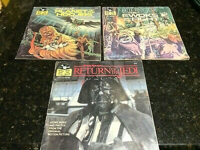 Star Wars-Book and Record-Planet of the Hoojibs-Return of the Jedi + One-1980's