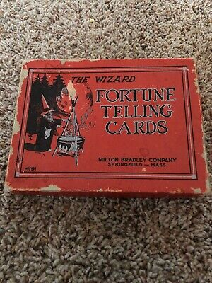 Vintage 1909 The Wizard Fortune Telling Cards Milton Bradley 4191  Complete