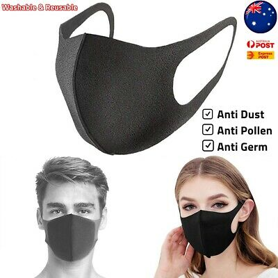 Washable Mouth Mask Cycling Anti Dust Face Allergies Flu Pollen Winter Masks