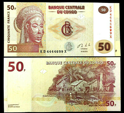 CONGO 50 Francs Year 2013 Banknote World Paper Money UNC Currency Bill