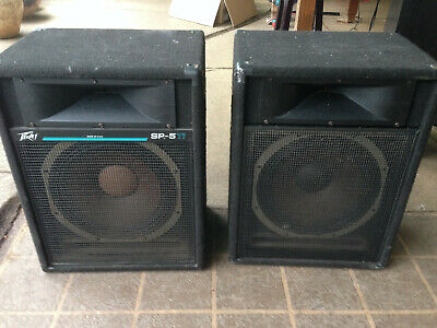 "Peavey SP 5 2-Way 15"" Speaker PAIR"