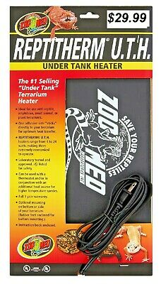ZOO MED REPTITHERM UNDER TANK HEATER MINI 10 - 20  GAL -  same day shipping