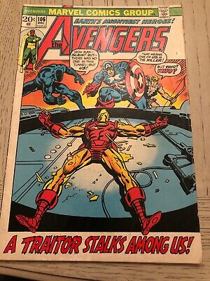 THE AVENGERS #106- Marvel Comics (1972) (A1) Iron Man Classic Cover Bucky