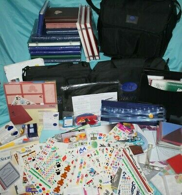 HUGE Creative Memories Lot 12 Albums, Cutter, Punches, Totes, Pages, Stickers!