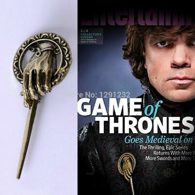 3D Game of Thrones Hand of The King Metal Alloy Brooch Pin Badge Replica Costume