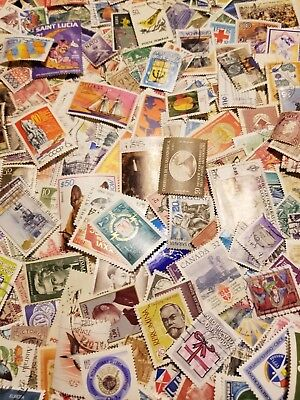 World, Kiloware,Collection lot of 1000 worldwide stamps, Off paper,mint,used #92