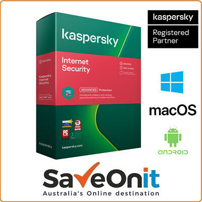 Kaspersky Internet Security 2020 3 PC Device 1 Year Android Mac Windows Email
