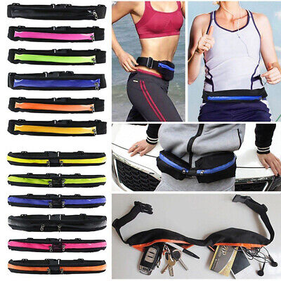 New Unisex Outdoor Sports Bum Bag Running Jogging Belt Waist Travel Zip Pouch