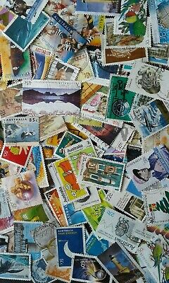100 Aust Decimal Stamps Used All Different Bulk Kiloware Collection Off Paper