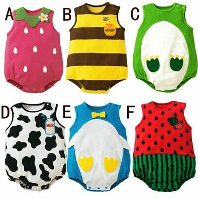 Infant Baby Boy Girl Kids Animal Costume Romper Jumpsuit Bodysuit Clothes Outfit