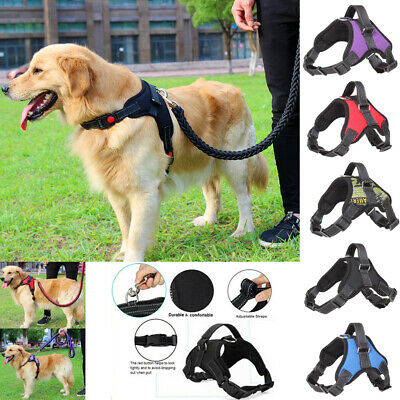 No Pull Dog Pet Vest Harness Strap Adjustable Nylon Small Large XL Dogs