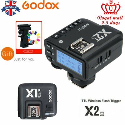 UK Godox X2T-C 2.4G TTL Bluetooth Flash Trigger With X1R-C Receiver For Canon