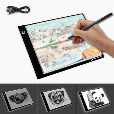 A4 LED Tracing Board Light Box Stencil Drawing Thin Pad Table With USB Cable AU