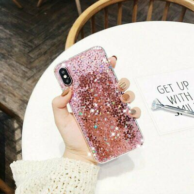 Bling Glitter Sparkle Gel Soft Phone Case Cover For iPhone 8 Plus 7 6s XR XS Max