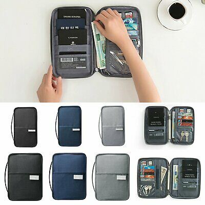 RFID Family Passport Wallet Travel Bag Document Holder Case Waterproof Organizer