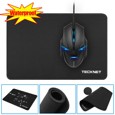 Black Large Gaming Mouse Mat Non-Slip Waterproof Pad Rubber Base for PC Laptop