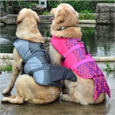 Pet Dog Life Preserver Jacket Swim Surf Safety Floatation Vest Saver S M L