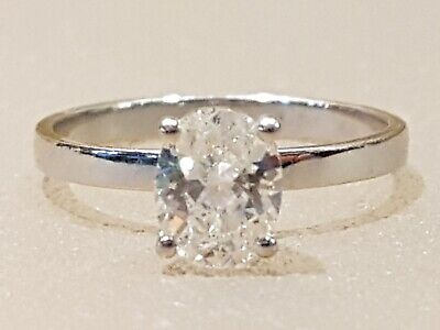 Large 1.16 Carat, d/vs2 Natural Oval Diamond Ring with Full Original Certificate