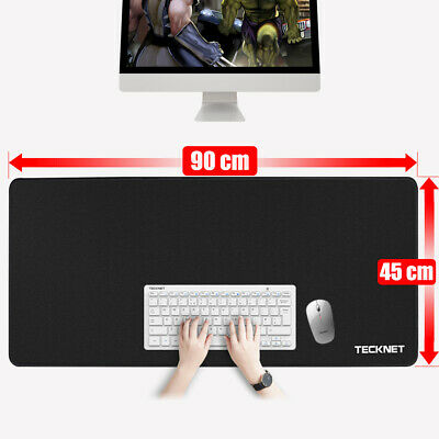 Extended Gaming Mouse Pad Extra Large Size Desk Keyboard Mat 900MM X 450MM Black