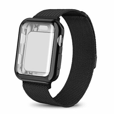 Stainless Steel Strap Magnetic Milanese Loop Band for Apple Watch Series 4 3 2 1