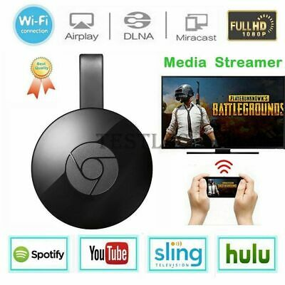 Chromecast Google Wireless Media Mirascreen Hdmi Display Dongle Video Streamer