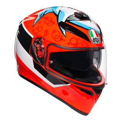 AGV K3 SV Motorcycle, Motorbike helmet Shark Attack over 25% off!